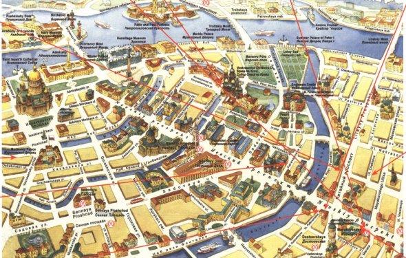 карта центра петербурга